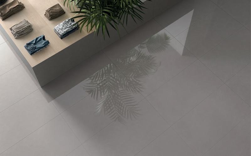 pavimento ceramiche keope finitura Grey Glossy, formato 60x120