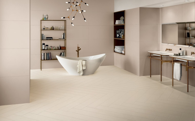 pavimento ceramica effetto resina beige lements Design di Ceramiche Keope