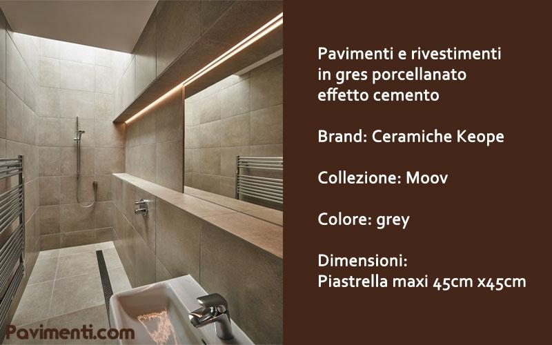 bagno scatola nera piastrelle moov formato maxi 45 x 45