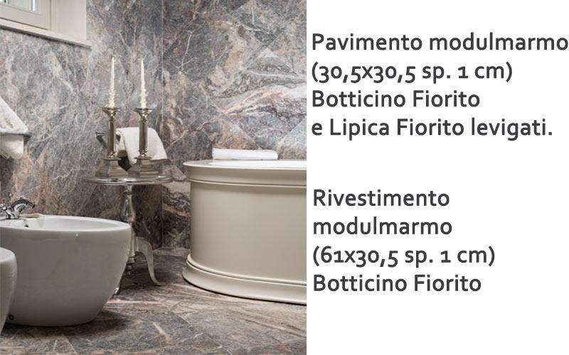 bagno in marmo in croazia con pavimenti e rivestimenti in modulmaro